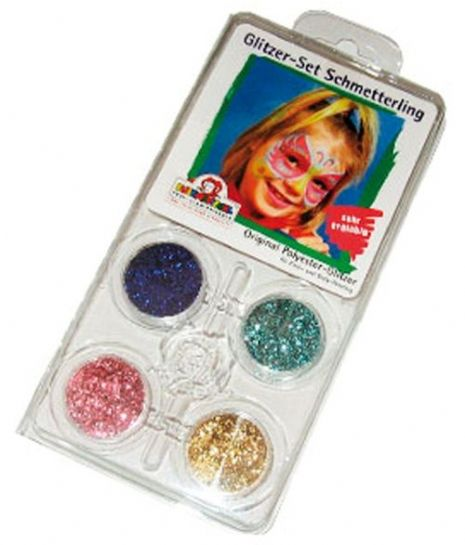 Glitter Motif Makeup SFX Set Face Butterfly Bug Insect Animal Creature
